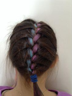 Frenchbraid with hair chalk