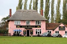 The Five Bells in Cavendish -a large village in the West of Suffolk, between Clare and  Long Melford, famous for its much photographed rambling Village Green  with pink almshouses nestled in front of a Norman Church tower