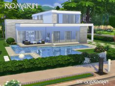 Romarin house by Guardgian at TSR via Sims 4 Updates
