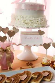 Pink and gold.... Perfect for a bridal shower or a birthday high tea celebration