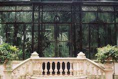 greenhouse. ironwork. balustrade.