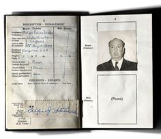 Alfred Hitchcock's passport