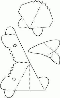 Ideias Giras: Moldes para imprimir - Tubarão Pop-Up