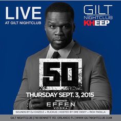 @50Cent LIVE Labor Day weekend Sept 3 #GiltNightClub @KHEEPOrlando @TonyKhuu @JohnKocky #KHEEP #KHEEPNightLife #KHEEP get your tickets www.Kheep.com #EffenVodka by kheeporlando - #giltnightclub #giltorlando #aperturestudiosmedia #edm #orlando #orlandonightlife
