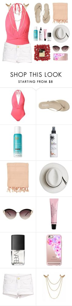 """""""{ My Summer Look Book    Day Two }"""" by raygrimm ❤ liked on Polyvore featuring Skinbiquini, Tkees, Moroccanoil, Million Dollar Tan, Calypso Private Label, NARS Cosmetics, Casetify and onepieceswimsuit"""