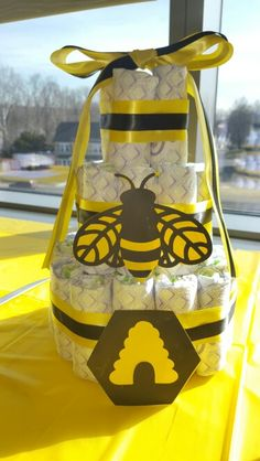 Mommy to Bee Diaper Cake                                                       …