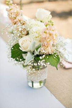 Image result for how to arrange flowers in mason jars