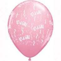 28cm It's a Girl Around Pink. Available in: Pkt50 $54.95 Q11731 Pkt25$29.95 Q39822