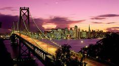 City Bridges Cities Night Sunset #wallpapers #widescreen #backgrounds
