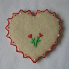 Valentine Heart Flowers   Sugar Cookie   Lightly Decorated   J. Tamara
