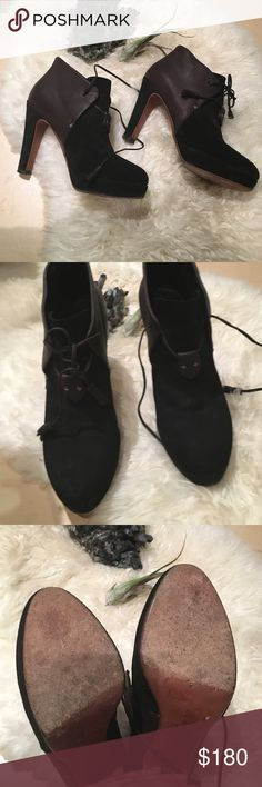 🔴SALE🔴Rag & Bone gorgeous ankle boots ❗️open to offers❗️BUNDLE AND SAVE❗️So comfortable  gourgeus heels, excellent condition, black suede and brown leather with amazing leather laces. True size 38. Comes with original dust bag. rag & bone Shoes Ankle Boots & Booties