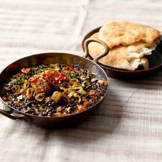 Beluga Lentil Dhal with Cumin, Chilli & Fried Onions