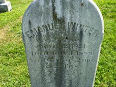 Genealogical Gems: Tombstone Tuesday: Emanuel Winter #genealogy