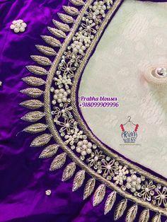 Choli Blouse Design, Bridal Blouse Designs, Blouse Neck Designs, Hand Embroidery, Embroidery Designs, Aari Work Blouse, Kids Gown, Embroidered Blouse, Designer Wear