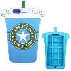 Funda 3D con forma de Vaso de cafe Azul para tu iphone 6 plus. Dale un toque divertido a tu smartphone.