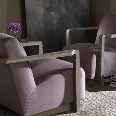 Bernhardt Interiors | Wynn Chair in lilac woven