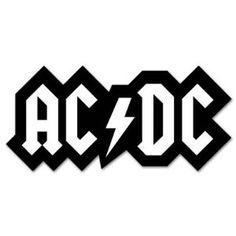 ac dc logo ruboff sticker punk metal band misc stickers rh pinterest co uk Metal and Punk Band Logos Nu Metal Band Logos