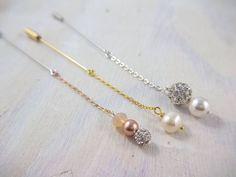 Dainty everyday dangle hijab pin set - rose gold gold and silver hijab pins
