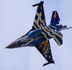 Fighter Aircraft, Fighter Jets, Hellenic Air Force, Aircraft Painting, Airplane Art, Zone 5, F 16, Top Gun, Air Show