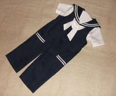 Sailor baby boy suit baptism / christening baby boy by Graccia, $90.00