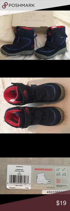 Snow boots for boys Used one winter. Good condition. Boys youth size 12 US. North Face Shoes Rain & Snow Boots