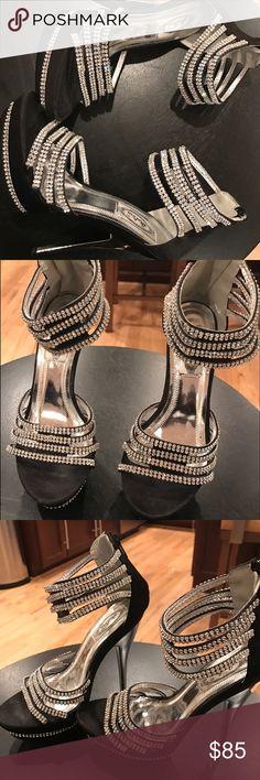 "Beautiful Rhinestone Heels ""-Prom""  ""Heels"" Beautiful Rhinestone Heels. -5 inch Heels.   Great for Wedding or Prom  New Never Worn   Great Buy . Shoes Heels"