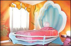 Decorating theme bedrooms - Maries Manor: underwater bedroom ideas - under the sea theme bedrooms - mermaid theme bedrooms - sea life bedrooms - Little mermaid princess Ariel