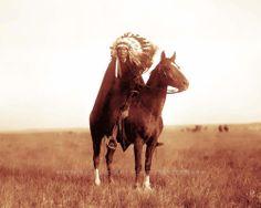 DAKOTA SIOUX PRAIRIE CHIEF VINTAGE PHOTO NATIVE AMERICAN INDIAN  #21335