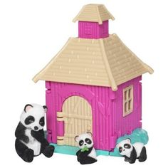 Jungle In My Pocket Family Huts Panda Bear Playset 5 Pc by Jakks. $28.50. This darling Jungle In My Pocket family huts playset is sure to provide hours of imaginative play! It includes a Panda mom and her two babies!Jungle In My Pocket Family Huts PlaysetIncludes Panda mom and her two babiesThe doors and roof opens wideCozy interior with plenty of room to play5 piece setCollector stickers Recomended for ages4and up