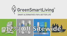 GreenSmartLiving is offering 12% discount on sitewide purchase. It offers you smart alternatives for a better life. For more GreenSmartLiving Coupon Codes visit: http://www.couponcutcode.com/stores/greensmartliving/