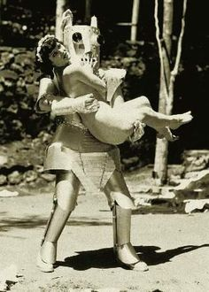 Horny Alpha the Robot kidnapped Zorine the Queen of the Nudists in 1935