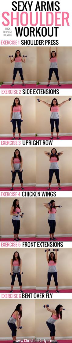 Sexy Arms + Shoulder Workout for Women
