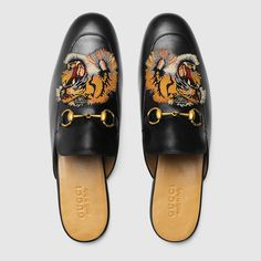 f80e8b5f9a1 Gucci Princetown embroidered slipper Detail 3 Mens Moccasins Loafers