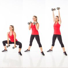These quick exercises will only take you 5 minutes. Grab a set of dumbbells and complete this total-body workout to burn fat and tone up in no time!