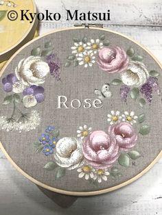 One Stroke Painting, Tole Painting, Fabric Painting, Folk Art Flowers, Flower Art, Modern Embroidery, Hand Embroidery, Shabby Chic Painting, Art Lessons