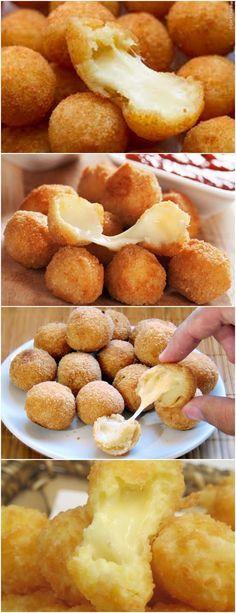 BOLINHA DE QUEIJO,SUPER FÁCIL DE PREPARAR!! VEJA AQUI>>>Em uma panela, adicione o leite, a farinha de trigo, a margarina, a gema e o sal #MASSAS#BOLINHADEQUEIJO#