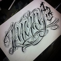 "Lucky 13"" #script #letters #lettering #script #handstyles #graffiti #tattoo #ink #calligraphy #lucky #13 #lucky13 #type #typography #draw #drawing #sketch #art"