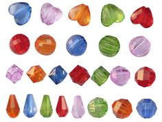 1.Acrylic Beads-Types of Beads Used in Fashion Jewelry