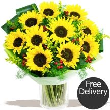 Just Sunflowers - WOW! Stunning fresh Sunflowers by our florists Sunflower Bouquets, Gifts Delivered, Flowers Delivered, Florists, Sunflowers, Fresh, Floral, Plants, Handmade