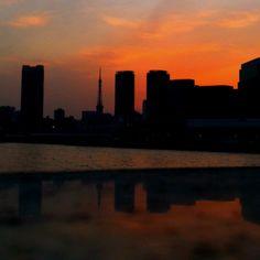 Sunset of Tokyo