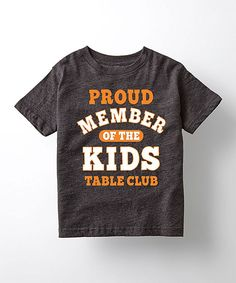 This Heather Charcoal 'Kids Table Club' Tee - Toddler & Kids is perfect!