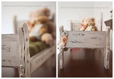 Affordable DIY newborn bed photography prop. I like the little garland slung on the bottom