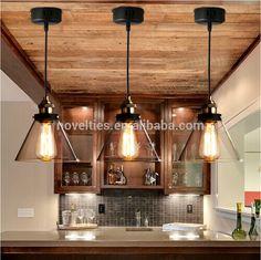Ev aydınlatma, modern tasarım eski endüstriyel kolye ışık ticari mutfak aydınlatma