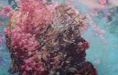 Pakayla Biehn paints on acrylic what photographers achieve through doulble exposure