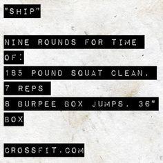 WOD Ship Crossfit Amrap4life.com