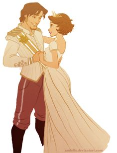 I really like this drawing of Flynn and Rapunzel!