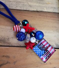 American Flag Car Accessory One Nation Under God Pledge of