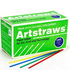 Artstraws Long Jumbo Coloured Paper Straws Bulk Pack 900pcs. Artstraws are in wide use in schools all around the world today. From Basic model construction in classrooms. To complex mathematical models and highly detailed life-size artistic creations. You will see Artstraws in use. The Straws glue together easily and will weave or Platt. An AMAZING! Product which allows your imagination to run wild with ideas. Each Bulk Box Contains two Booklets which shows you how to use Artstraws.
