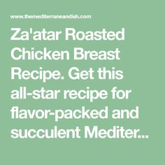 Get this all-star recipe for flavor-packed and succulent Mediterranean roast chicken. Step-by-step pictures included! Roasted Chicken Breast, Roast Chicken, Mediterranean Diet Recipes, Mediterranean Dishes, Moroccan Tagine Recipes, Otto Lenghi, Star Recipe, Ottolenghi Recipes, Star Food