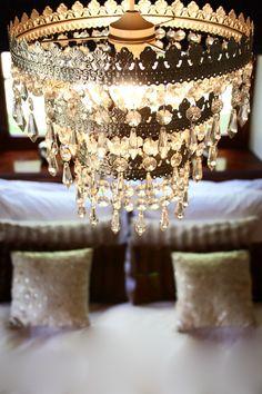 antique lighting in the bedroom